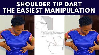 How To Cut & Sew Shoulder-Tip Dart |  sewing pattern |  pattern drafting |  pattern making