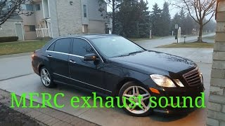 2013 mercedes benz e350 sport w212 exhaust sound v2