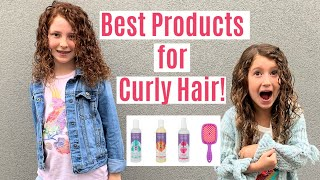My SECRET To Styling My Kids' Curly Hair | Curly Hair Product Review