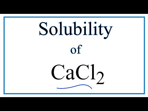 Is CaCl2 Soluble Or Insoluble In Water?