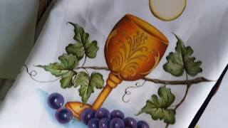 Uvas escuras ( roxa ) – Pintura em tecido Ana Ferrante