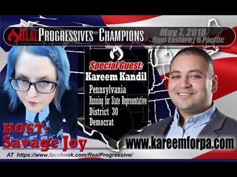 Joy Marie Mann - Savage Joy, live with PA State Rep D30 candidate, Kareem Kandil