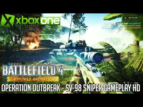 "BF4 Community Operations ""Operation Outbreak"" SV-98 Sniper Gameplay (19-5) HD 1080p"
