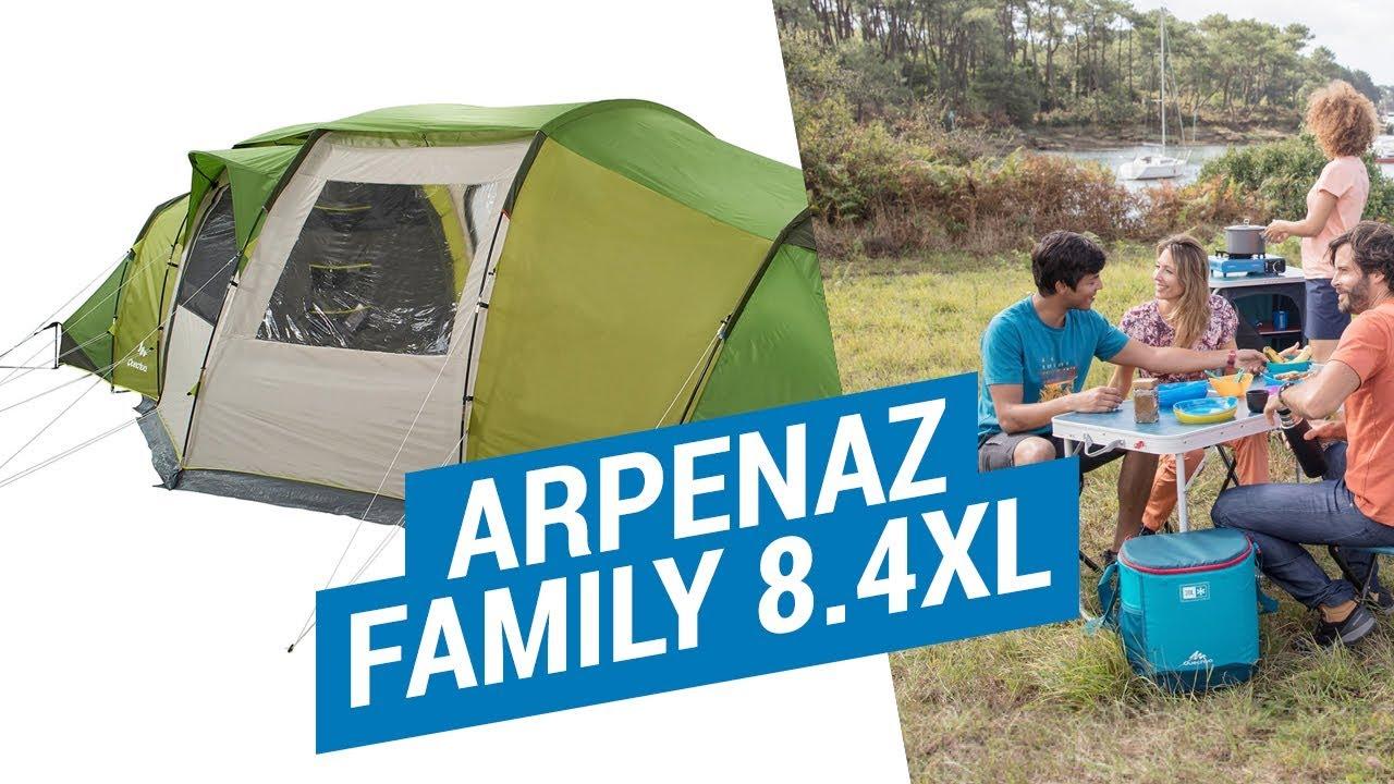 Палатки Семейные ARPENAZ FAMILY 8.4XL. (Преимущества и установка большой палатки Quechua) | Декатлон