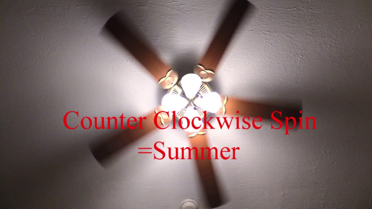 Ceiling Fan Spin Counter Clockwise In Summer