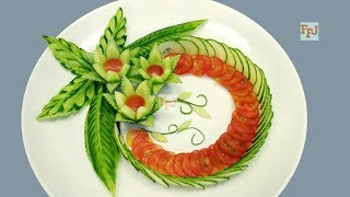 Cover images How to Make Cucumber Flowers with Tomato Garnish