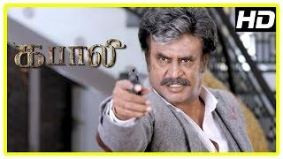 Kabali Tamil Movie   Action Scenes   Rajinikanth   Kishore   Dinesh   Dhansika   Winston Chao