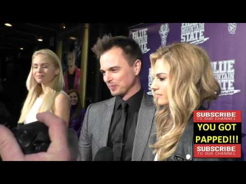 Kelly Kruger and Darin Brooks arriving to the Blue Mountain State The Rise Of Thadland Premiere at F