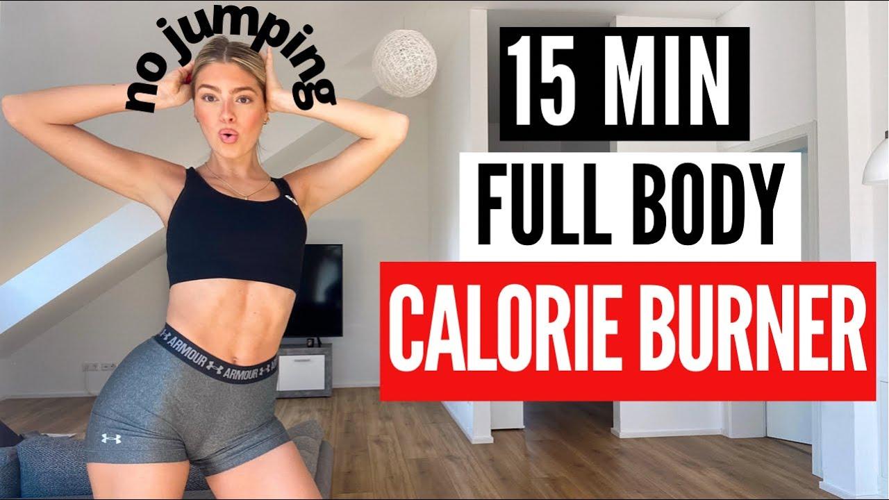 15 MIN. FULL BODY CALORIE BURNER - no jumping/neighbor friendly| high intensity workout | Mary Braun