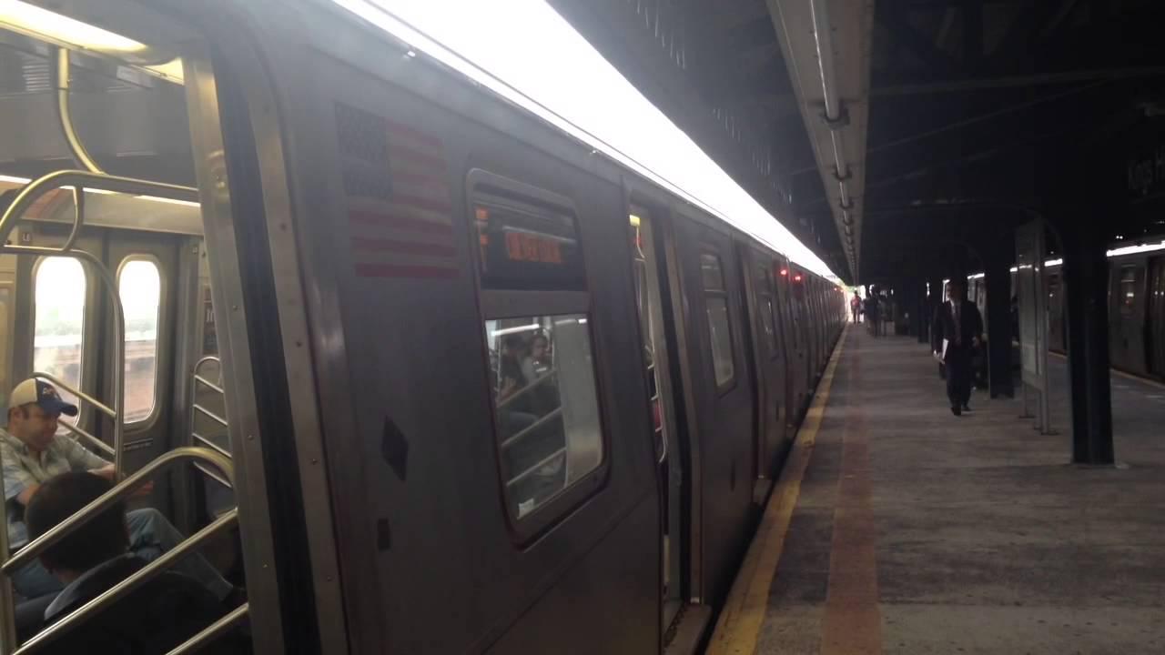 MTA New York City Subway Coney Island Bound Alstom R160A ...