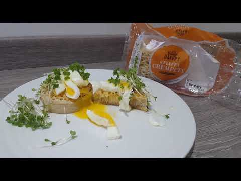 Crumpets review  - runny eggs perfect breakfast