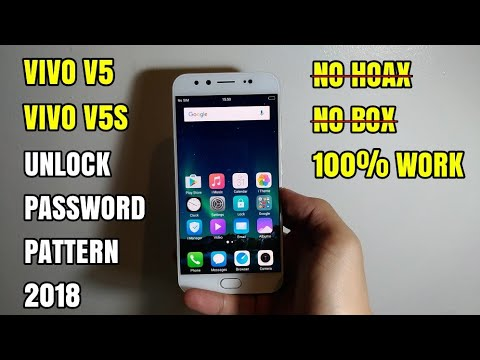 Vivo V5 | V5S Unlock Forgot Password Pattern, Lupa Pola Keamanan | Can't Wipe All Data Factory Reset
