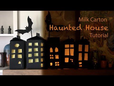 Milk Carton Haunted House tutorial