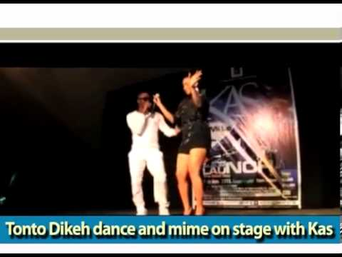 Tonto Dikeh first stage performance, dance and mime the song of others