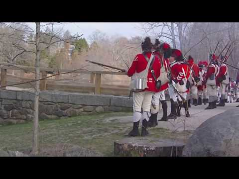 North Bridge Reenactment Fight: Concord Mass