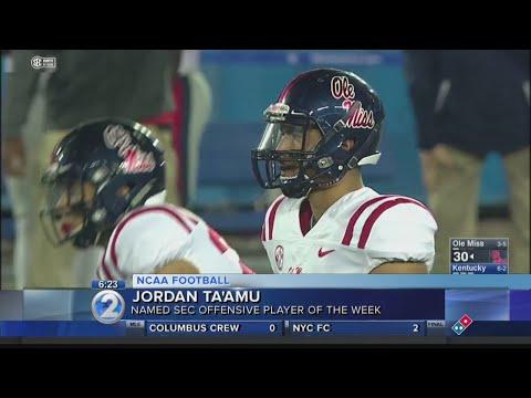 Jordan Taamu named SEC Offensive Player of the Week