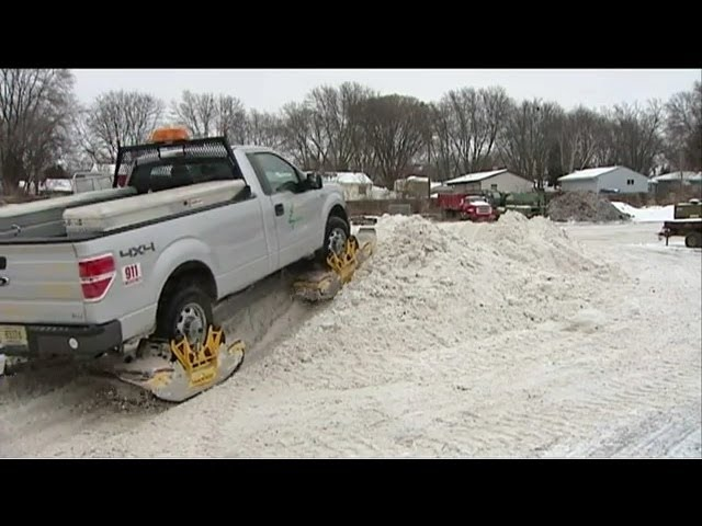 Track N Go Truck Track System used for saving lives. (Dane County's Blizard Budster)