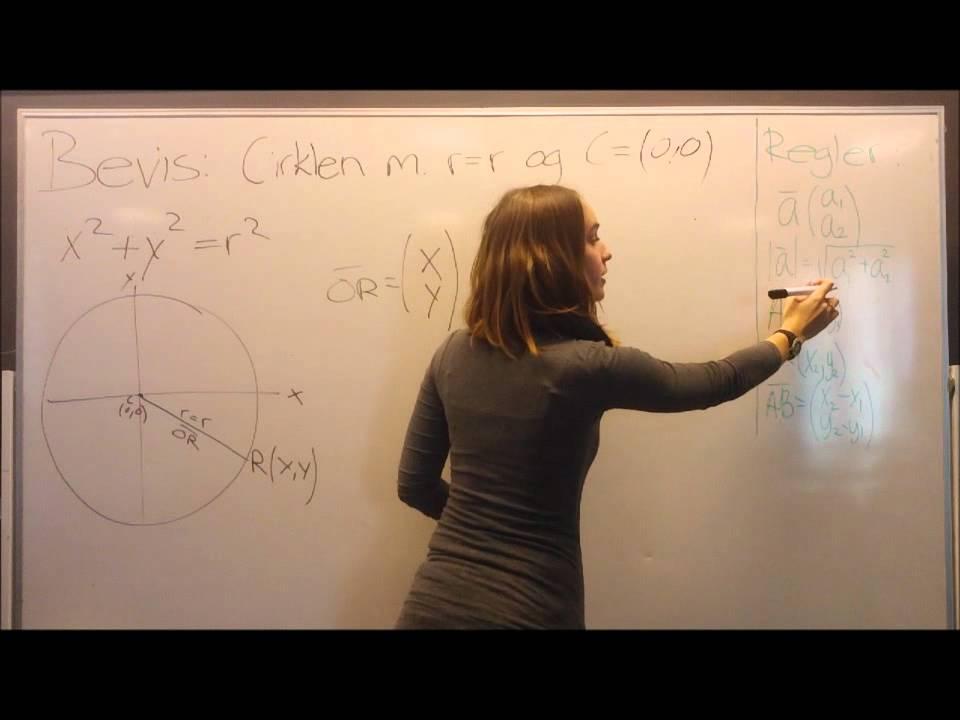 Video Matematik Cirkel r=r C(0,0)