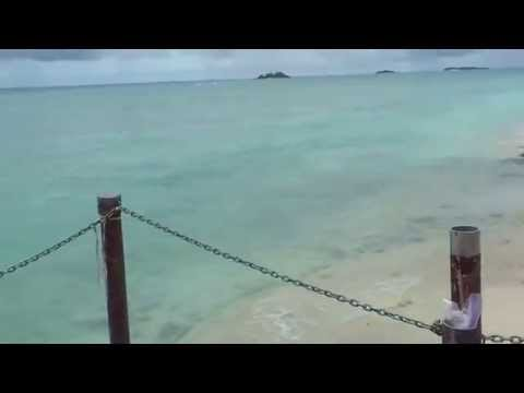 Diego Garcia island West side sea short pier