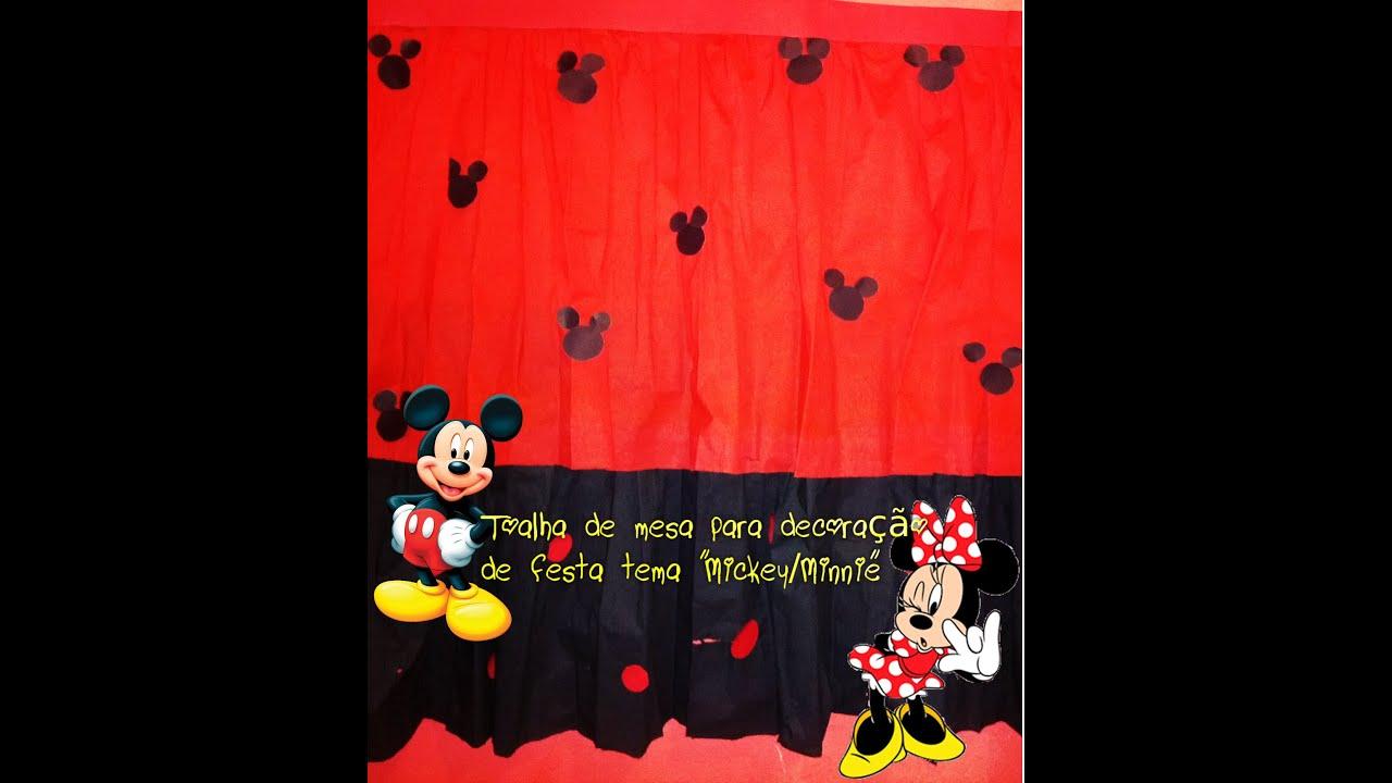 """decoracao festa mickey : decoracao festa mickey: de mesa para decoração de festa tema """"Mickey/Minnie"""". – YouTube"""