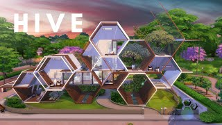 HIVE | HEXAGONAL HOUSE | Eco Lifestyle inspired | The Sims 4 Speed Build | NOCC