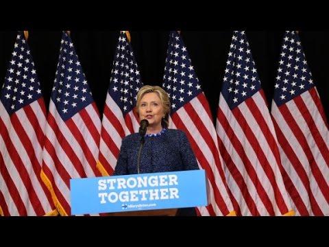 Clinton tries to flip the script, put focus back on Trump