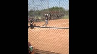 12u fast pitch softball home run over the fence