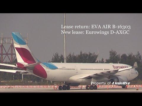 Lease return: EVA AIR B-16303/New lease: Eurowings D-AXGC