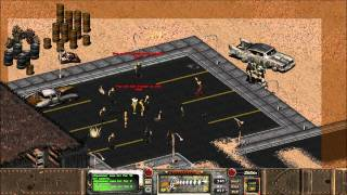 Fallout 2 - Unwashed Villagers hunting a Spammer special encounter