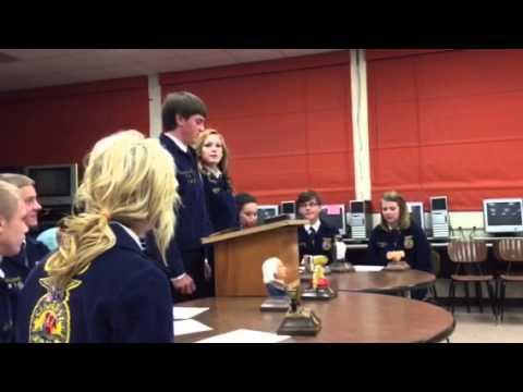 FFA Parliamentary Procedure Team shows their talent - YouTube