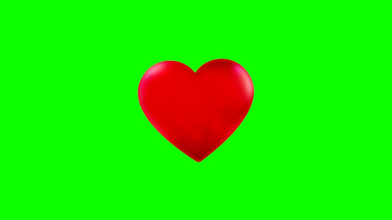 Corazón latiendo chroma key - Beating Heart Green Screen - YouTube