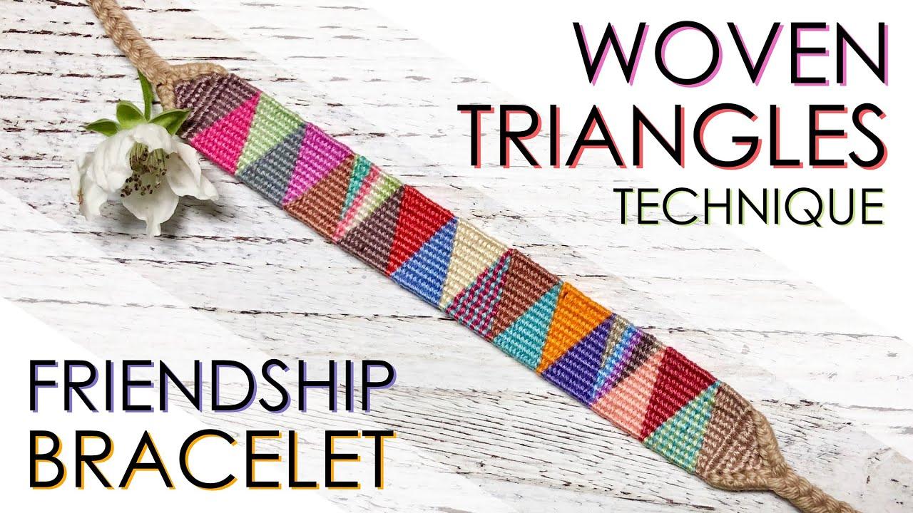 knotted bracelet Fruit Cup Friendship Bracelet Triangle Pattern woven bracelet