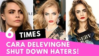 Top 6 Times Cara Delevingne SHUT DOWN Her Haters! | Hollywire