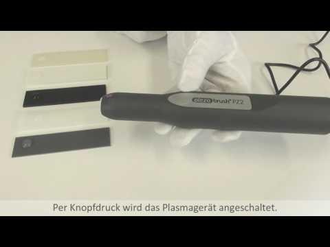 Oberflächenbehandlung AD Plasmagerät piezobrush® PZ2 Wassertropfentest