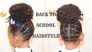 Kids Natural Back To School Hairstyles The Plaited Up Do Fast Hairstyle For Little Black Girls Youtube