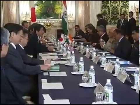 PM Modi & Japan PM Shinzo Abe at the Delegation Level Talks