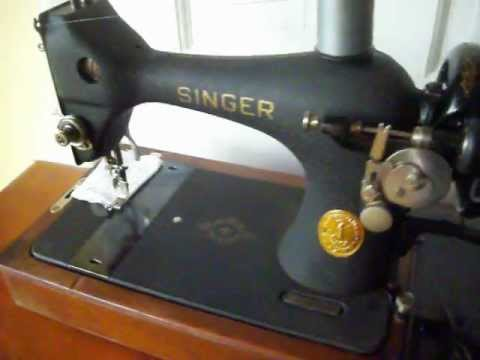 40 Singer Hand Crank Model 40 Portable Sewing Machine FOR SALE Cool 1950 Singer Sewing Machine