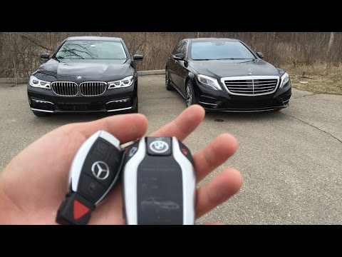 Luxury Sedan Fight! | '16 BMW 750i vs '16 Mercedes S550