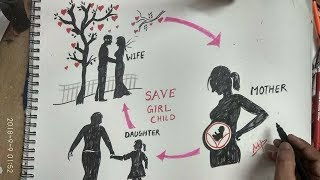 Video how to draw save girl child download MP3, 3GP, MP4, WEBM, AVI, FLV Oktober 2018