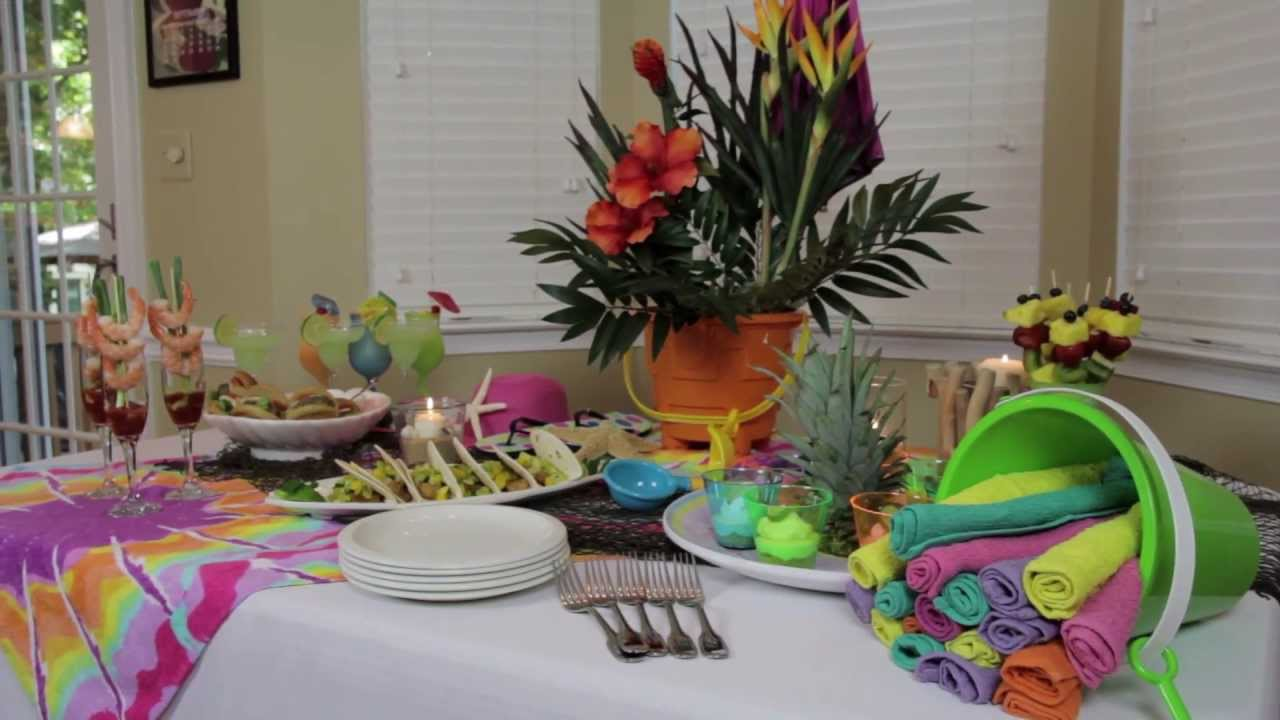 Beach Themed Party Decorating Ideas Part - 33: How To Make Indoor Beach Party Decorations - YouTube