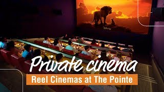 Our private cinema viewing at the Palm