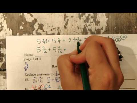 TSI BASIC MATH Fraction Review 15 to 20 (Texas Success Initiative) - ACCUPLACER