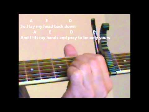 """How To Play """"Only Hope"""" Mandy Moore Version On The Guitar"""