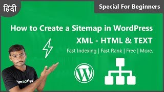How to Create a Sitemap in WordPress XML, HTML & TEXT 2019