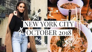 NEW YORK CITY VLOG! OCTOBER 2018! | DACEY CASH
