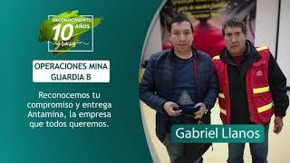 Reconocimiento 10 años de servicio - Gabriel Llanos