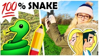 A COLD ART ADVENTURE - 100% Real Snake with a TWIST!
