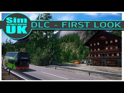 Austria & Switzerland DLC - First Look - Fernbus Coach Simulator (Audio Bug)