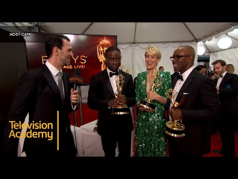 Emmys 2016   Backstage with Sterling K. Brown, Sarah Paulson & Courtney B. Vance