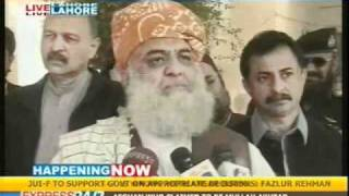 Fazlur Rehman surprised at Ansar Burney